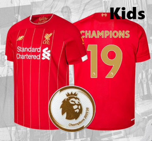 Kids Liverpool Home 2019/20 League Champion Kit