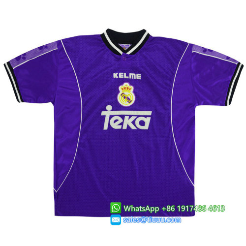 Real Madrid 1997-1998 Away Retro Jersey