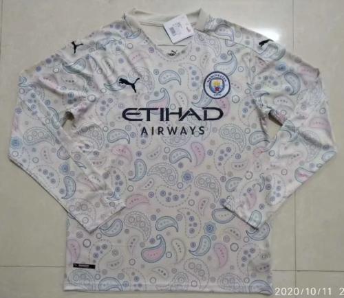 Thai Version Manchester City 20/21 LS Third Soccer Jersey