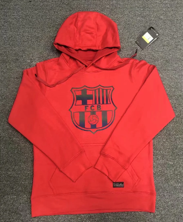 Barcelona 20/21 Hoodie With Wool- Red