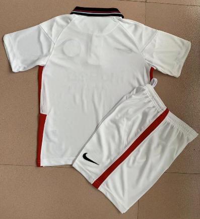 Eintracht Frankfurt 20/21 Kids Away Soccer Jersey and Short Kit