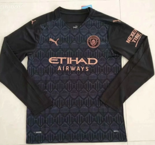 Thai Version Manchester City 20/21 Away LS Soccer Jersey