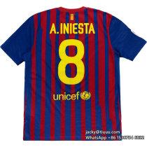 Barcelona 2011-2012 Iniesta Home Retro Jersey