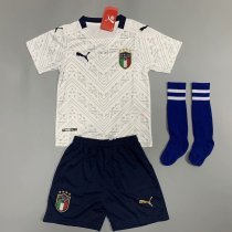 Italy 2020 Kids Away Soccer Jersey and Short Kit