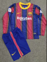 Barcelona 20/21 Kids Home LS Soccer Jersey and Short Kit