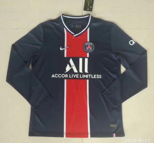 Thai Version Paris Saint-Germain 20/21 Home LS Soccer Jersey