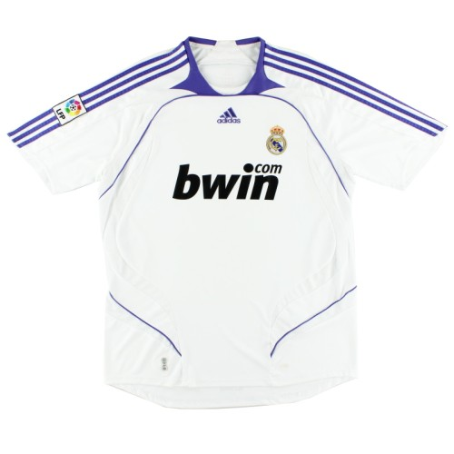 Real Madrid 2007-2008 Home Retro Jersey