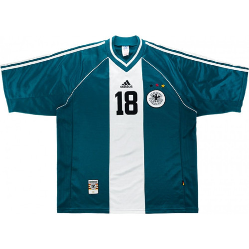 Germany 1998-2000 Away Retro Jersey #18 Klinsmann