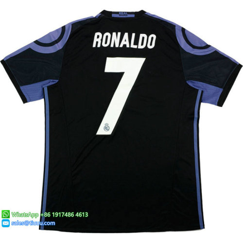 Real Madrid 2016/17 Third Retro Jersey #7 Ronaldo