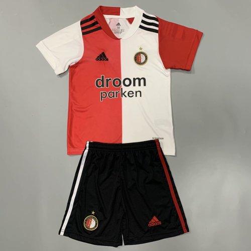 Feyenoord Rotterdam 20/21 Kid's Home Soccer Jersey and Short Kit