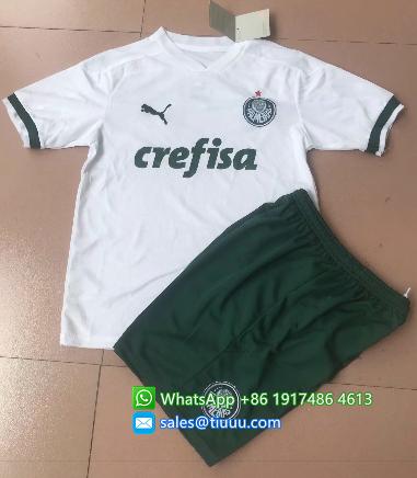 Palmeiras 2020 Kids Away Soccer Jersey and Short Kit