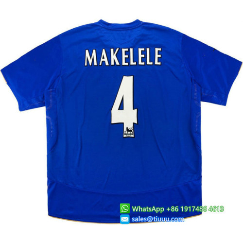 Chelsea 2005/06 Centenary Home Retro Jersey #4 Makelele