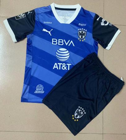 Monterrey 20/21 Kids Away Soccer Jersey and Short Kit