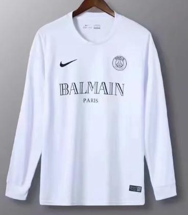 Thai Version Paris Saint-Germain 20/21 LS Training Soccer Jersey - White
