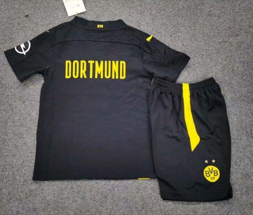 Borussia Dortmund 20/21 Kids Away Soccer Jersey and Short Kit