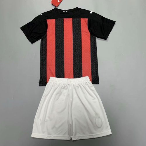 AC Milan 20/21 Kids Home Soccer Jersey and Short Kit