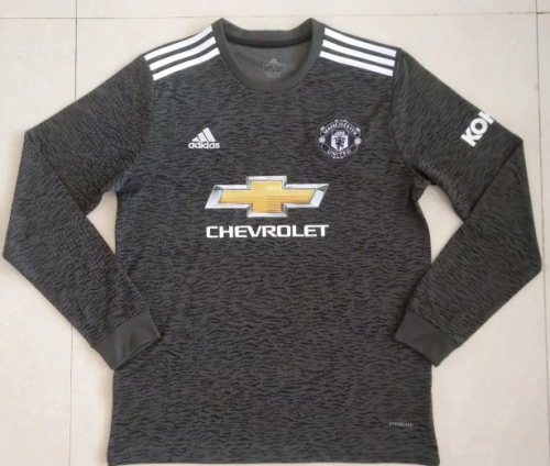 Thai Version Manchester United 20/21 Away LS Soccer Jersey