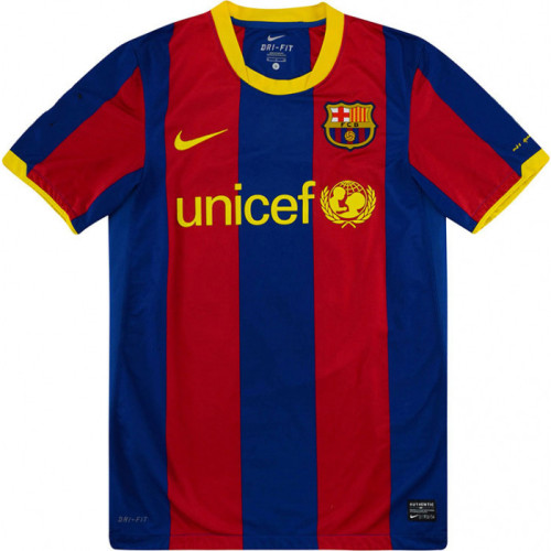 Barcelona 2010-2011 Home Retro Jersey 7 David Villa