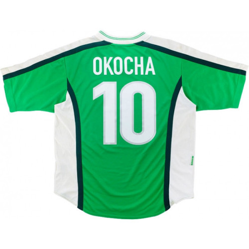 Nigeria 1998 Home Retro Jersey Okocha #10