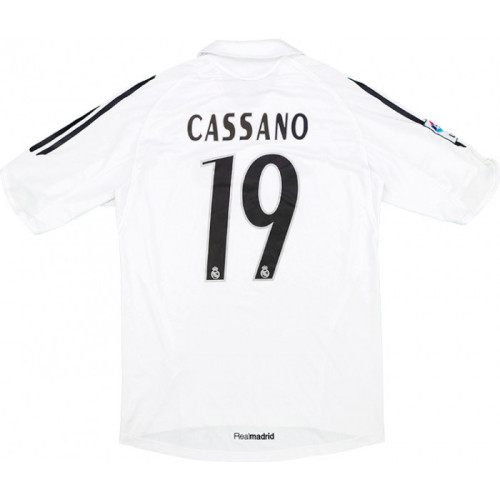 Real Madrid 2005-2006 Home Retro Jersey #19 Cassano