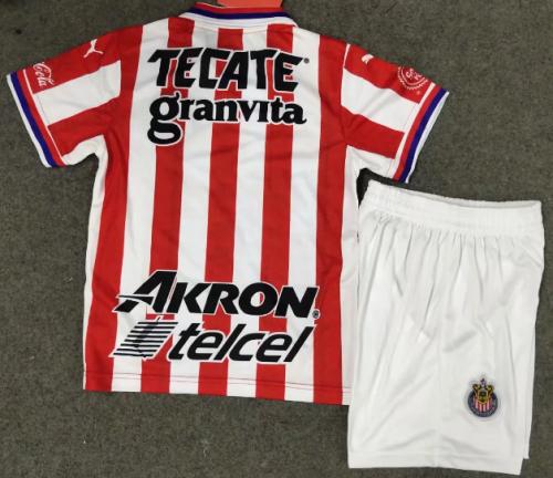 Chivas de Guadalajara 20/21 Kids Home Soccer Jersey and Short Kit