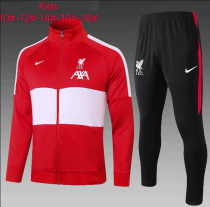 Liverpool Kids Jacket and Pants Red - #E505