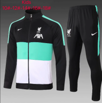 Liverpool 20/21 Kids Jacket and Pants Green - #E506