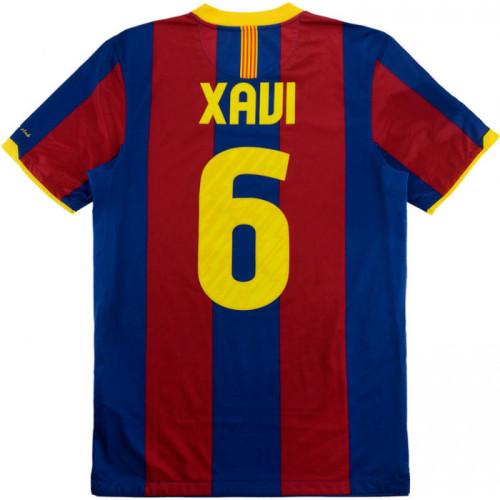 Barcelona 2010-2011 Home Retro Jersey 6 Xavi