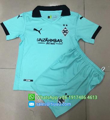 Monchengladbach 20/21 Kids Soccer Jersey and Short Kit -Blue