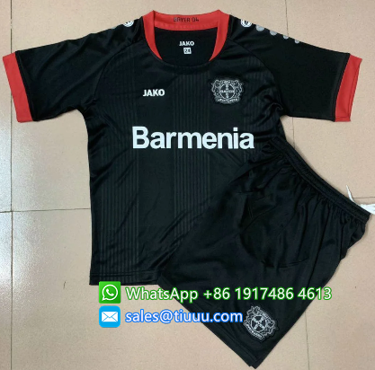 Bayer 04 Leverkusen 20-21 Kids Home Soccer Jersey and Short Kit