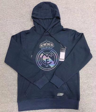 Real Madrid 20/21 Hoodie With Wool- Navy Blue