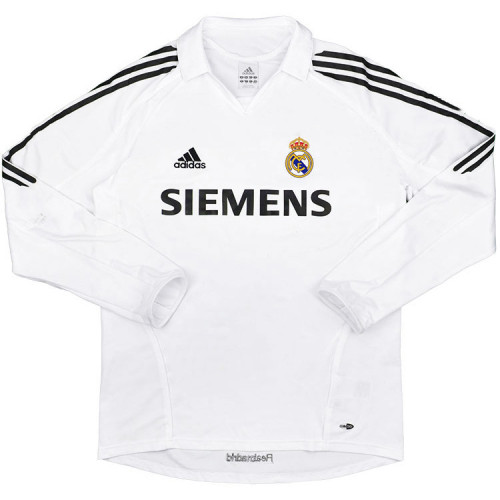 Real Madrid 2005-2006 Home Retro L/S Jersey