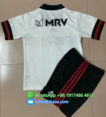 Flamenco 2020 Kids Away Soccer Jersey and Short Kit