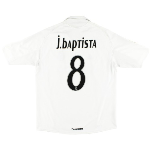 Real Madrid 2005-2006 Home Retro Jersey #8 J.Baptista