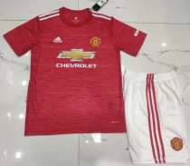 Manchester United 20/21 Home Soccer Jersey and Short Kit