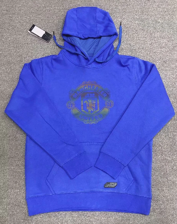 Manchester United 20/21 Hoodie With Wool -Blue