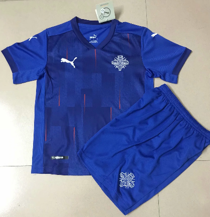 Iceland 20/21 Home Soccer Jersey And Short Kit