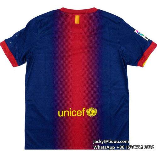 Barcelona 2012-2013 Home Retro Soccer Jersey
