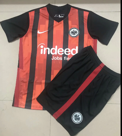 Eintracht Frankfurt 20/21 Home Soccer Jersey and Short Kit