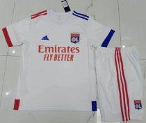 Olympique Lyonnais 20/21 Home Soccer Jersey and Short Kit