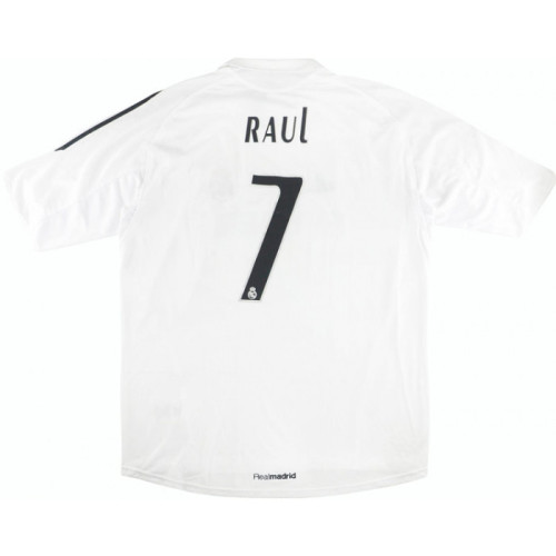 Real Madrid 2005-2006 Home Retro Jersey #7 Raul