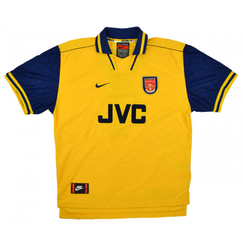 ARS 1996-97 Away Retro Soccer Jersey 10 Bergkamp