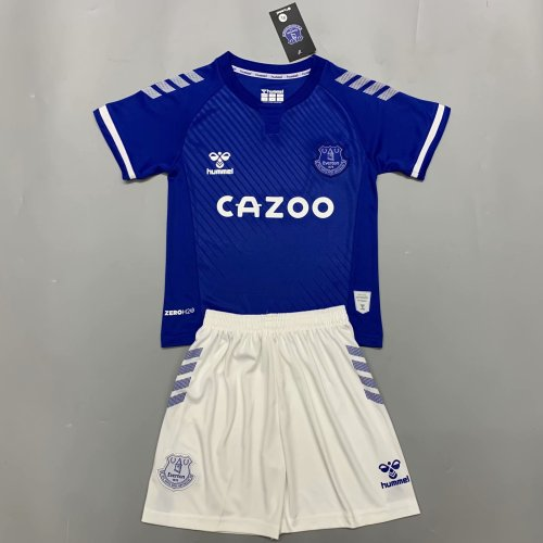 Everton 20/21 Kids Home Soccer Jersey and Short Kit