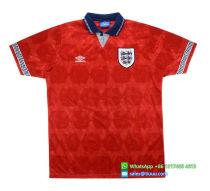 England 1990-93 Away Retro Soccer Jersey