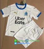 Olympique Marseille 20/21 Home Soccer Jersey and Short Kit