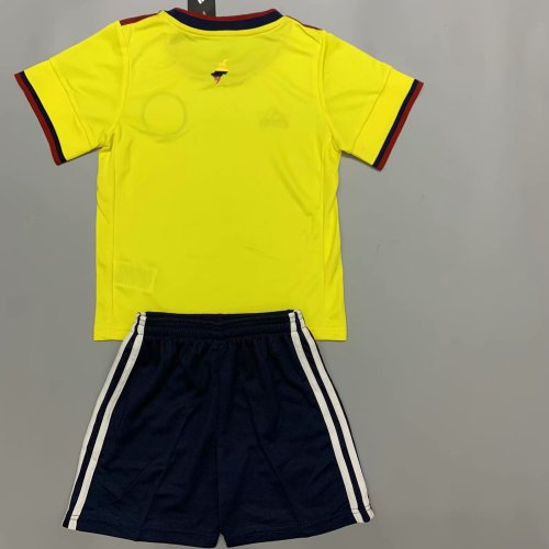 Colombia 2020 Kids Home Soccer Jersey and Short Kit