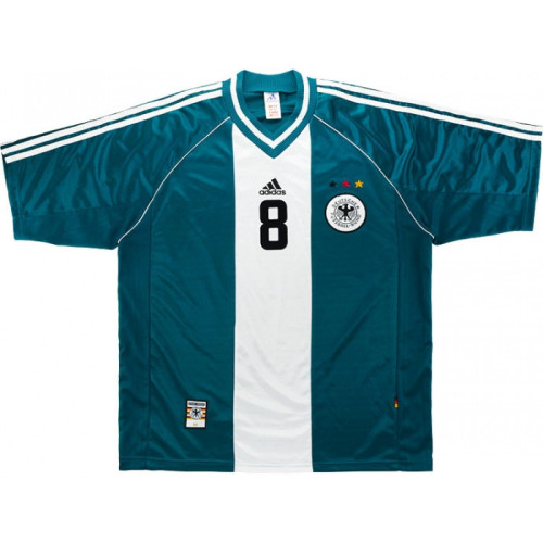 Germany 1998-2000 Away Retro Jersey #8 Matthaus