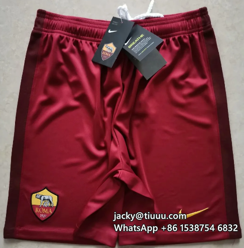 Thai Version AS Roma 20/21 Home Soccer Shorts