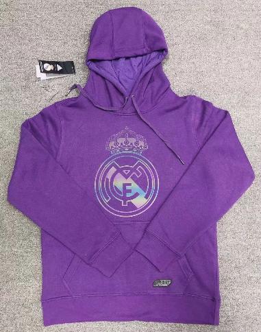 Real Madrid 20/21 Hoodie With Wool- Purple