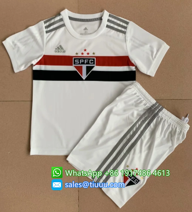 Sao Paulo 2020 Kids Home Soccer Jersey and Short Kit